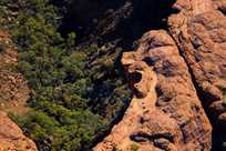 Scenic view from a helicopter flight over Kings Canyon