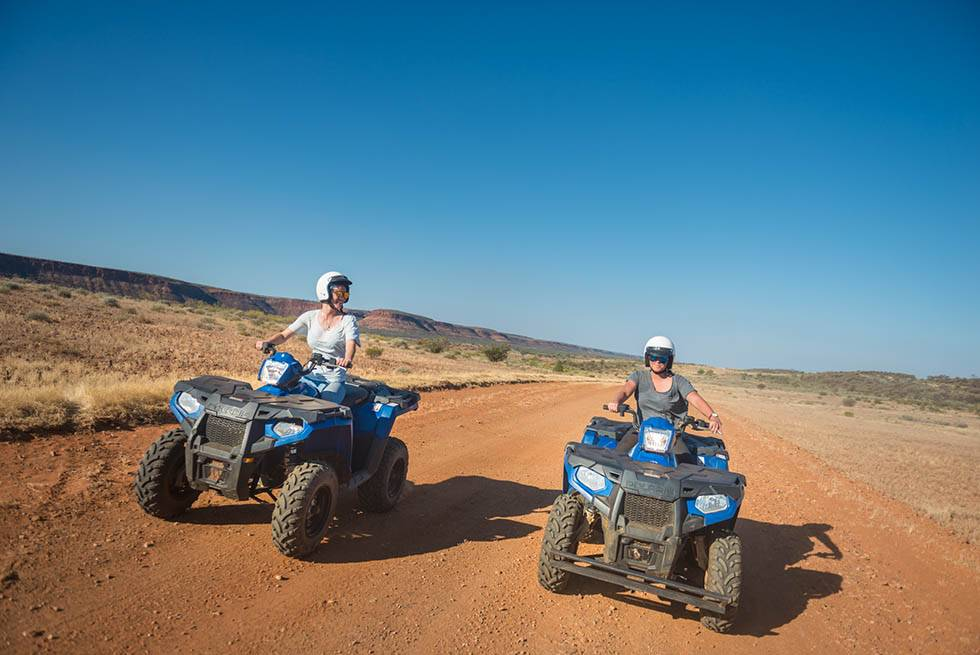 pair of quad bikes