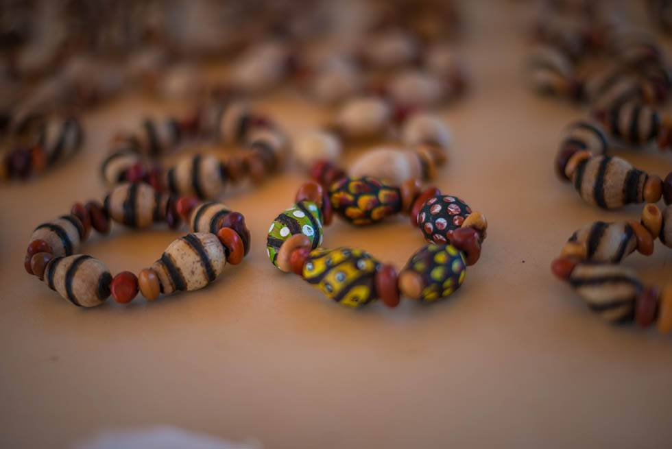 Colourful beads on Karrke Indigenous Experience