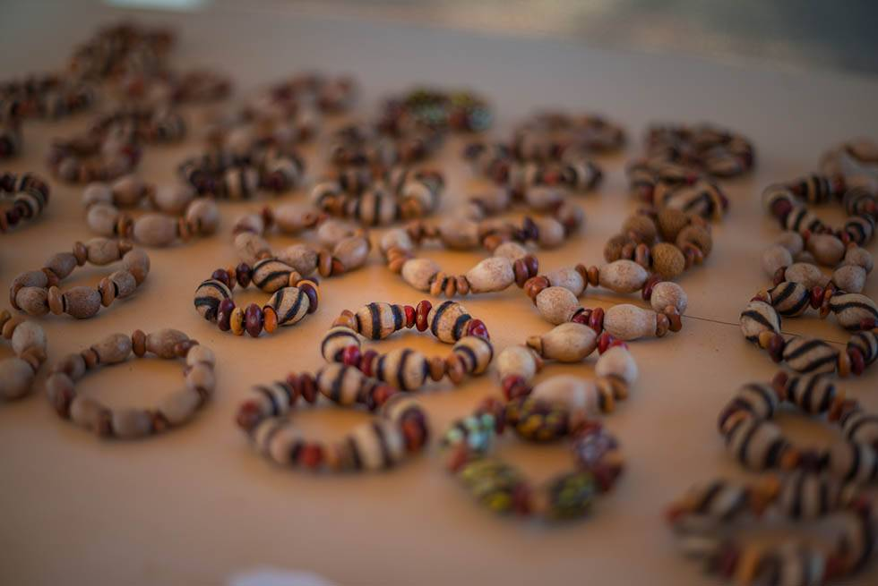Colourful beads on the Karrke Indigenous Experience