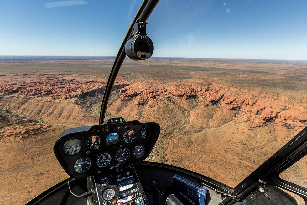 Take a scenic helicopter flight over Kings Canyon